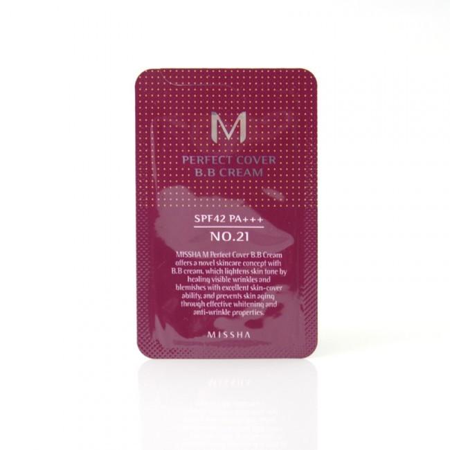 Missha M Perfect Cover BB Cream SPF 42 PA+++-No.27 honey beige minta 1 ml